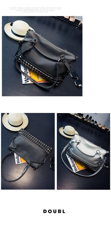 CMX GETFASIONBAGS Fashion Punk Rivet Shoulder Messenger Bag detail 2