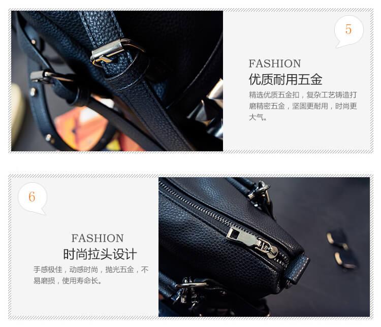CMX GETFASIONBAGS Fashion Punk Rivet Shoulder Messenger Bag detail 4