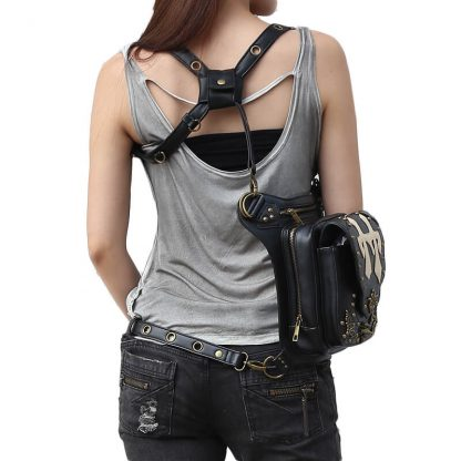 CMX GETFASIONBAGS Flap Waist Bags Unisex Cross Leather Thigh Packs 5