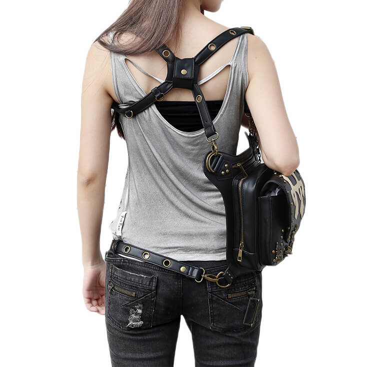 CMX GETFASIONBAGS Flap Waist Bags Unisex Cross Leather Thigh Packs detail 11