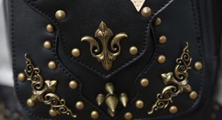 CMX GETFASIONBAGS Flap Waist Bags Unisex Cross Leather Thigh Packs detail 12