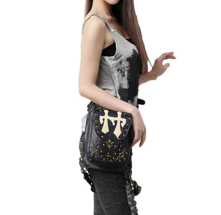 CMX GETFASIONBAGS Flap Waist Bags Unisex Cross Leather Thigh Packs detail 7