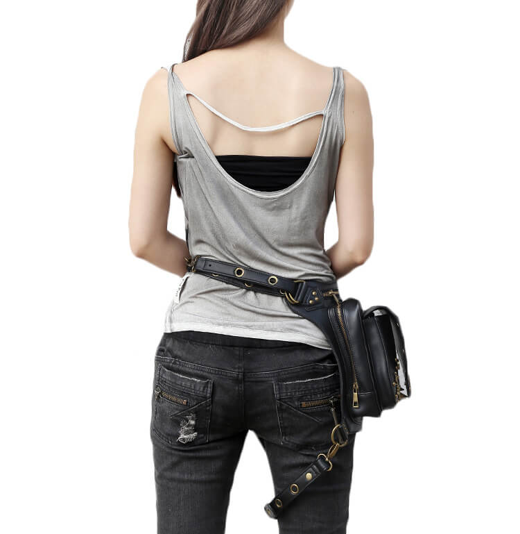 CMX GETFASIONBAGS Flap Waist Bags Unisex Cross Leather Thigh Packs detail 8