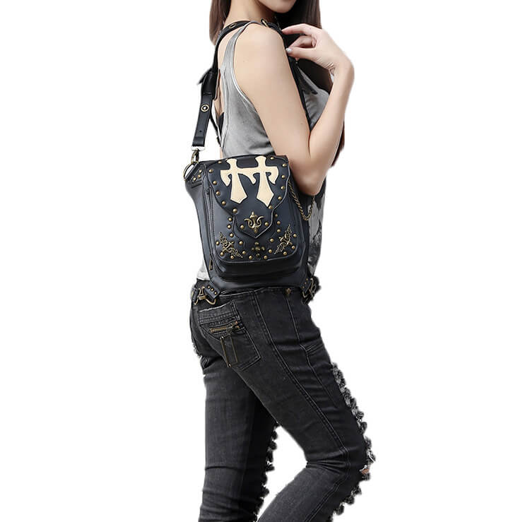 CMX GETFASIONBAGS Flap Waist Bags Unisex Cross Leather Thigh Packs detail 9