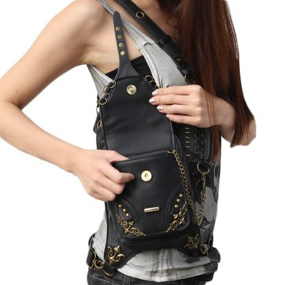 CMX GETFASIONBAGS-Gothic-Flap-Waist-Bags-Unisex-motorcycle-Leather-Thigh-Packs-Retro-2