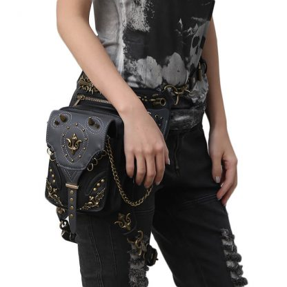 CMX GETFASIONBAGS-Gothic-Flap-Waist-Bags-Unisex-motorcycle-Leather-Thigh-Packs-Retro-3