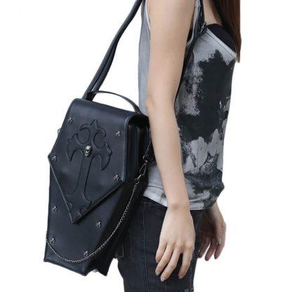 CMX GETFASIONBAGS-Gothic-Waist-Bags-Unisex-Hexagon-Leather-Thigh-Packs-1