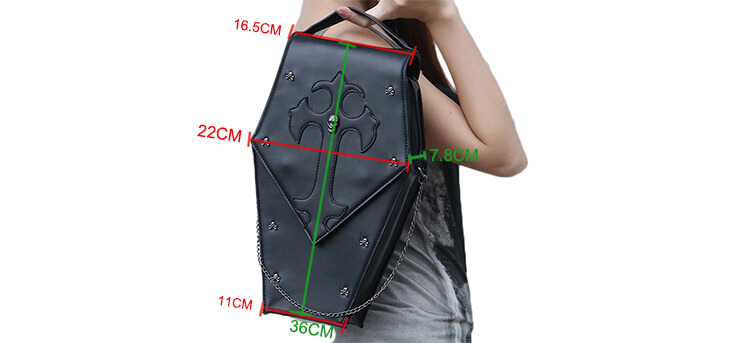CMX GETFASIONBAGS-Gothic-Waist-Bags-Unisex-Hexagon-Leather-Thigh-Packs-15