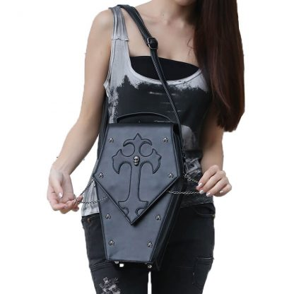 CMX GETFASIONBAGS-Gothic-Waist-Bags-Unisex-Hexagon-Leather-Thigh-Packs-2