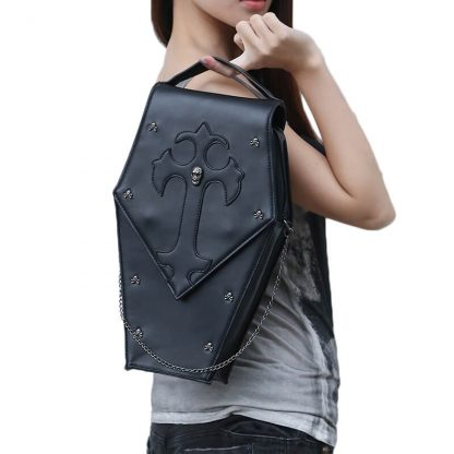 CMX GETFASIONBAGS-Gothic-Waist-Bags-Unisex-Hexagon-Leather-Thigh-Packs-4