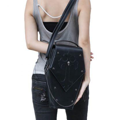 CMX GETFASIONBAGS-Gothic-Waist-Bags-Unisex-Hexagon-Leather-Thigh-Packs-5