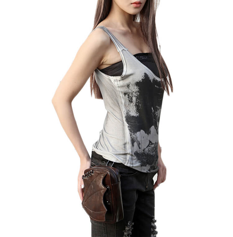 CMX GETFASIONBAGS-Steampunk-Mini-Waist-Bags-Leather-Hip-Thigh-Packs-With-Leg-Holster-Khaki-detail 8