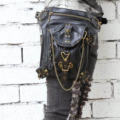 CMX GETFASIONBAGS-Steampunk-Style-Golden-Metal-Waist-Bags-1