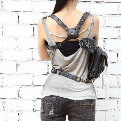CMX GETFASIONBAGS-Steampunk-Style-Golden-Metal-Waist-Bags-4