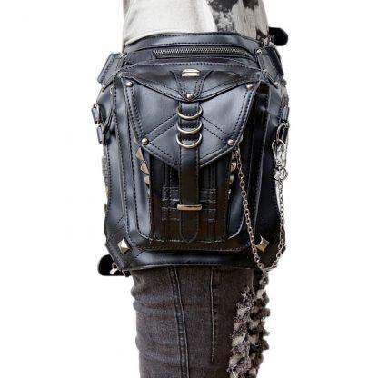 CMX GETFASIONBAGS-Steampunk-Style-Silver-Metal-Waist-Bags 1