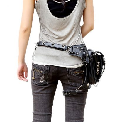 CMX GETFASIONBAGS-Steampunk-Style-Silver-Metal-Waist-Bags-2