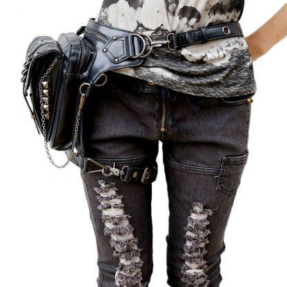 CMX GETFASIONBAGS-Steampunk-Style-Silver-Metal-Waist-Bags-3