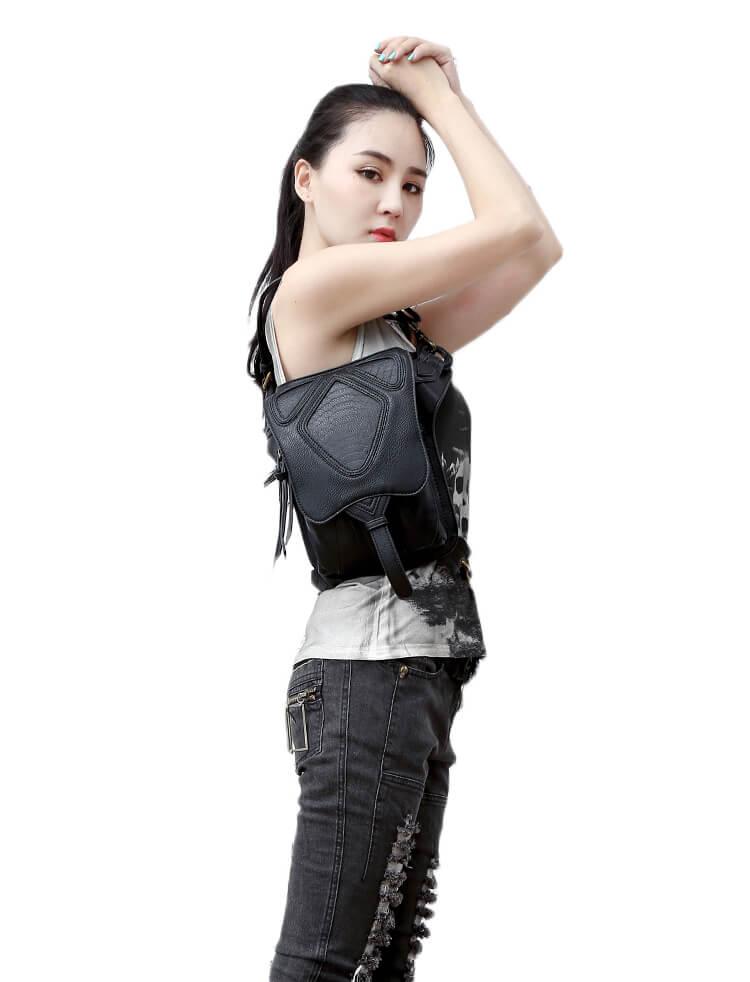 CMX GETFASIONBAGS-Steampunk-Style-Snake-Texture-Waist-Bags 11