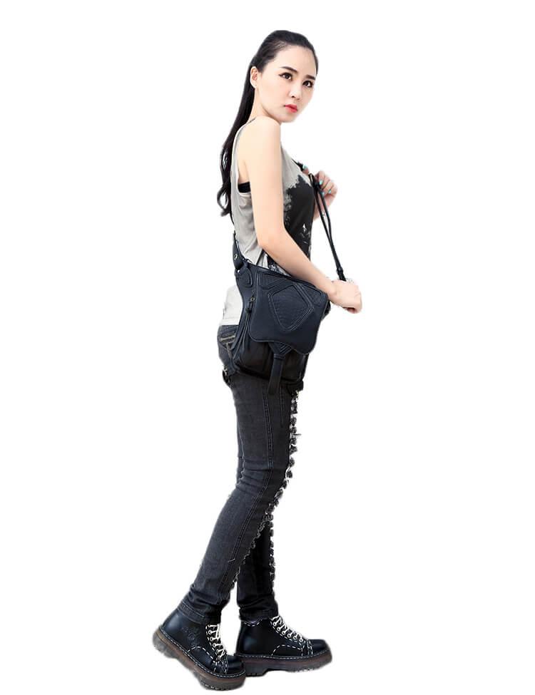 CMX GETFASIONBAGS-Steampunk-Style-Snake-Texture-Waist-Bags 14