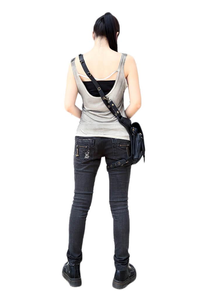 CMX GETFASIONBAGS-Steampunk-Style-Snake-Texture-Waist-Bags 15