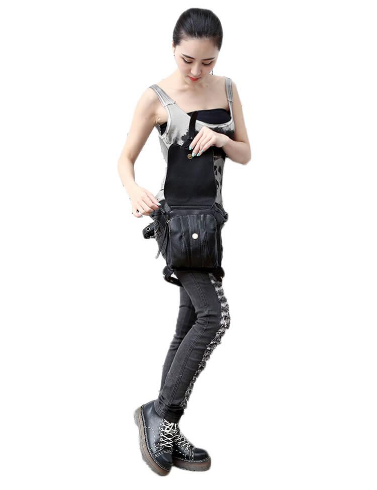 CMX GETFASIONBAGS-Steampunk-Style-Snake-Texture-Waist-Bags 16