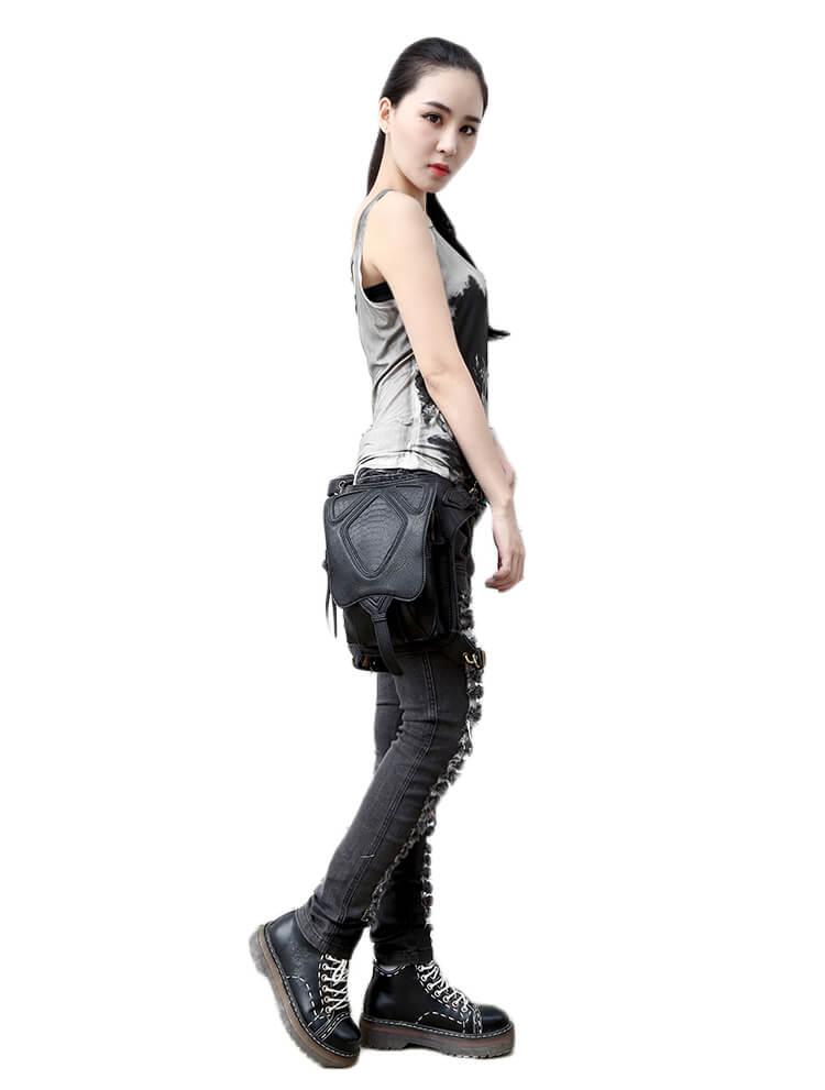 CMX GETFASIONBAGS-Steampunk-Style-Snake-Texture-Waist-Bags 18