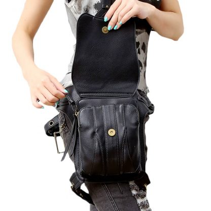 CMX GETFASIONBAGS-Steampunk-Style-Snake-Texture-Waist-Bags 2