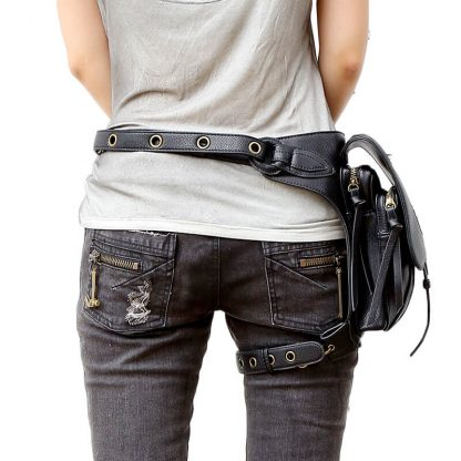 CMX GETFASIONBAGS-Steampunk-Style-Snake-Texture-Waist-Bags-3