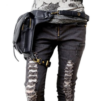 CMX GETFASIONBAGS-Steampunk-Style-Snake-Texture-Waist-Bags-4