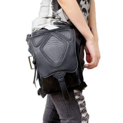 CMX GETFASIONBAGS-Steampunk-Style-Snake-Texture-Waist-Bags