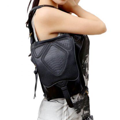 CMX GETFASIONBAGS-Steampunk-Style-Snake-Texture-Waist-Bags-5
