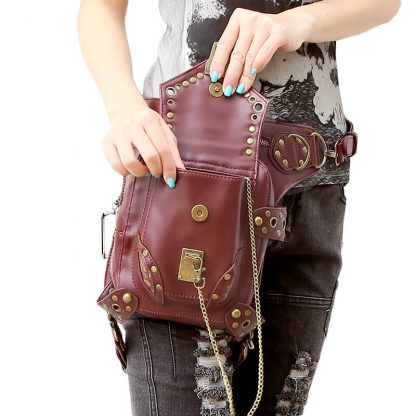CMX GETFASIONBAGS-Steampunk-Style-Unisex-Waist-Bags-Brown-1-3