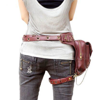 CMX GETFASIONBAGS-Steampunk-Style-Unisex-Waist-Bags-Brown-1-5