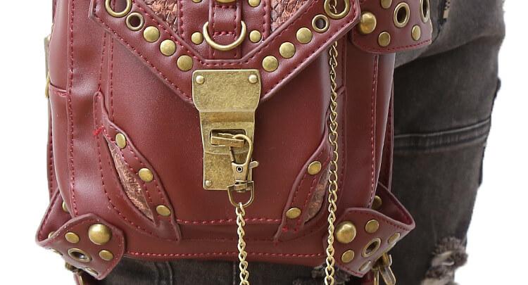 CMX GETFASIONBAGS-Steampunk-Style-Unisex-Waist-Bags-Brown-detail 11