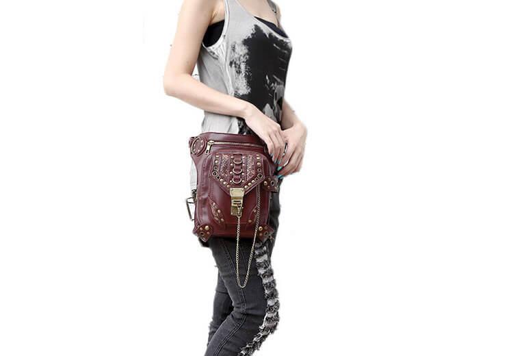 CMX GETFASIONBAGS-Steampunk-Style-Unisex-Waist-Bags-Brown-detail 6