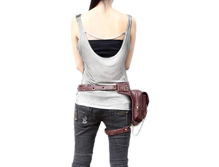 CMX GETFASIONBAGS-Steampunk-Style-Unisex-Waist-Bags-Brown-detail 7