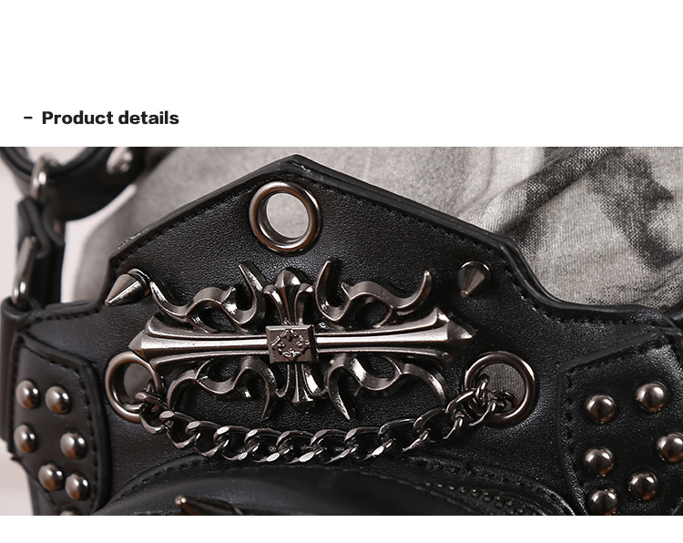 CMX GETFASIONBAGS-Steampunk-Waist-Bags-Skull-Leather-HipThigh-Packs-With-Leg-Holster-detail 2