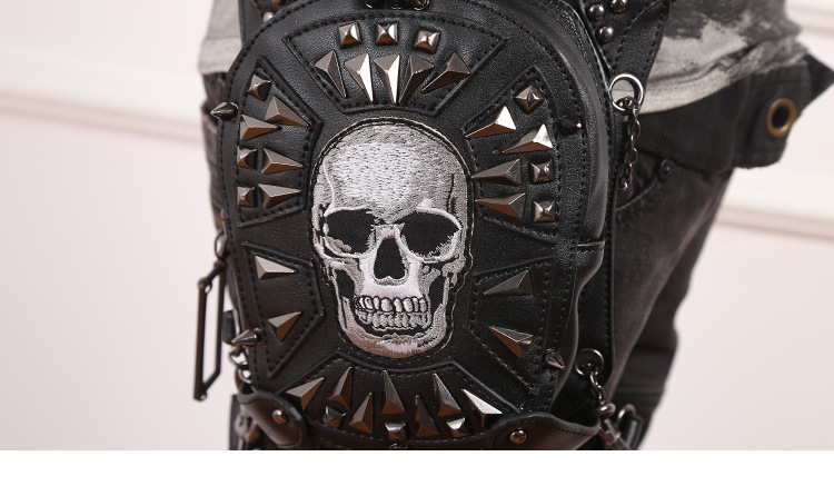 CMX GETFASIONBAGS-Steampunk-Waist-Bags-Skull-Leather-HipThigh-Packs-With-Leg-Holster-detail 3