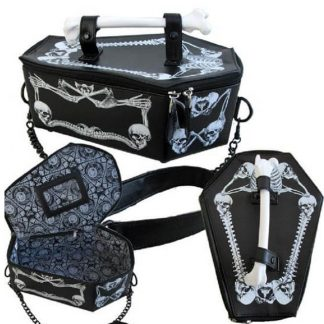 Gothic Harajuku Cosplay Skull Bone Vampire Coffin Bag 1