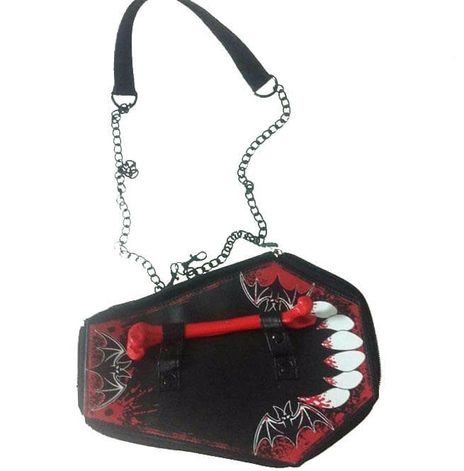 Gothic Harajuku Cosplay Skull Bone Vampire Coffin Bag12