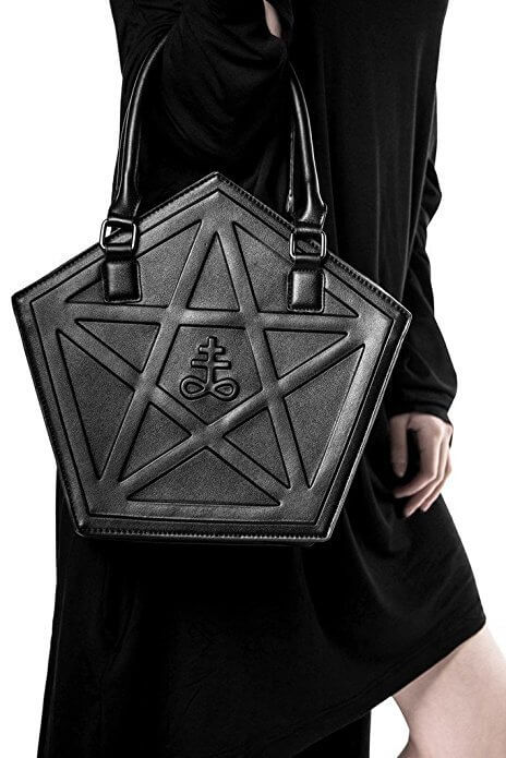 PENTAGRAM PUNK DARKNESS GOTHIC FIVE STAR BAGS detail 2