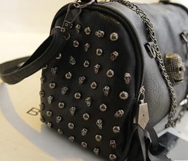 Punk rivets skull fashion shoulder bag female chain bag detail4