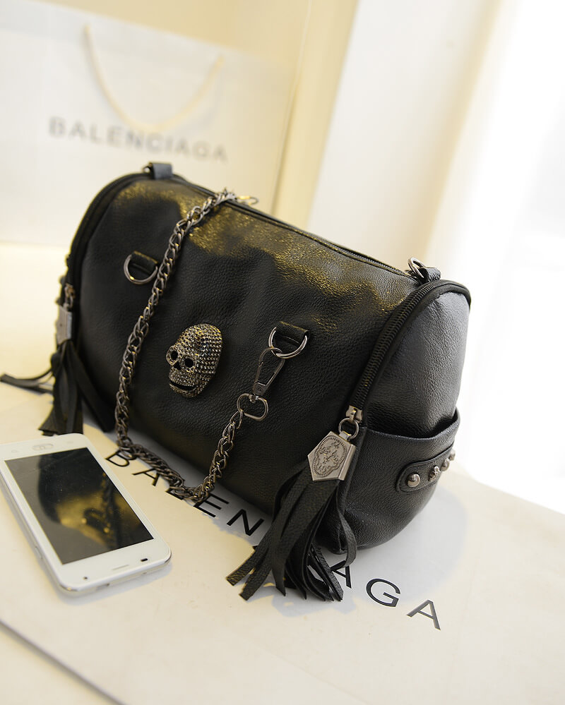 Punk rivets skull fashion shoulder bag female chain bag detail6