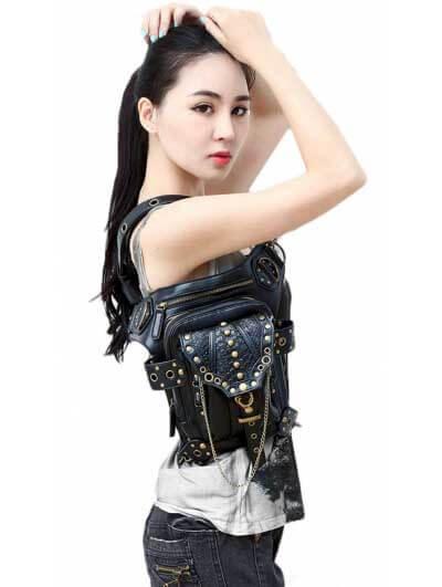 gothic-steampunk-gold-chain-waist-shoulder-messenger-bag