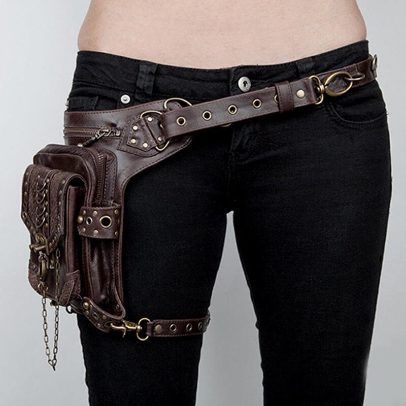 steampunk shoulder holster bag 2