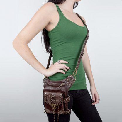 steampunk shoulder holster bag 3