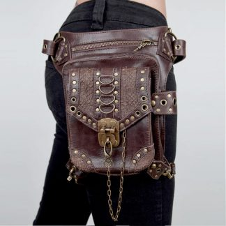 steampunk shoulder holster bag MAIN