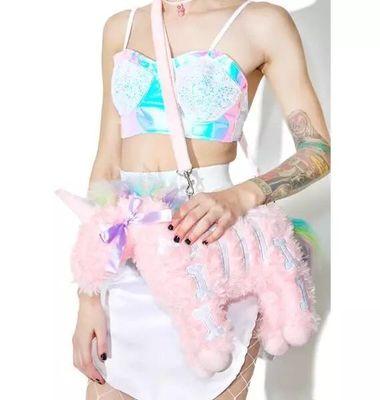 unicorn plush bag detail 1