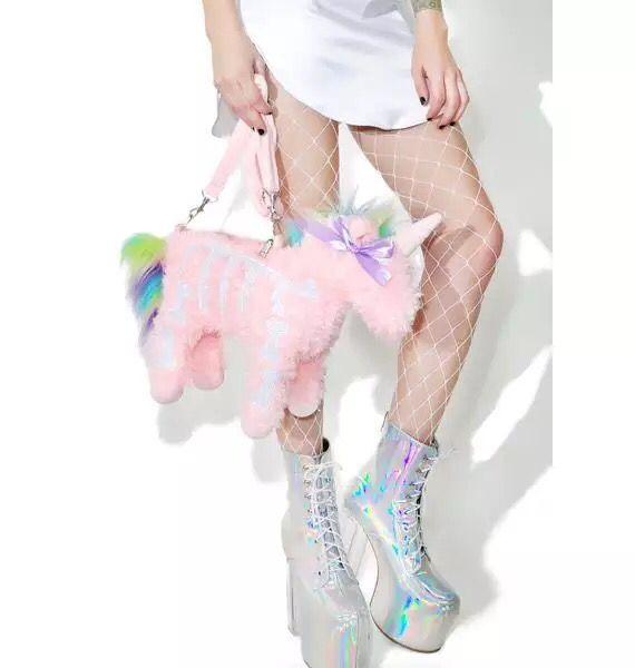 unicorn plush bag detail 2