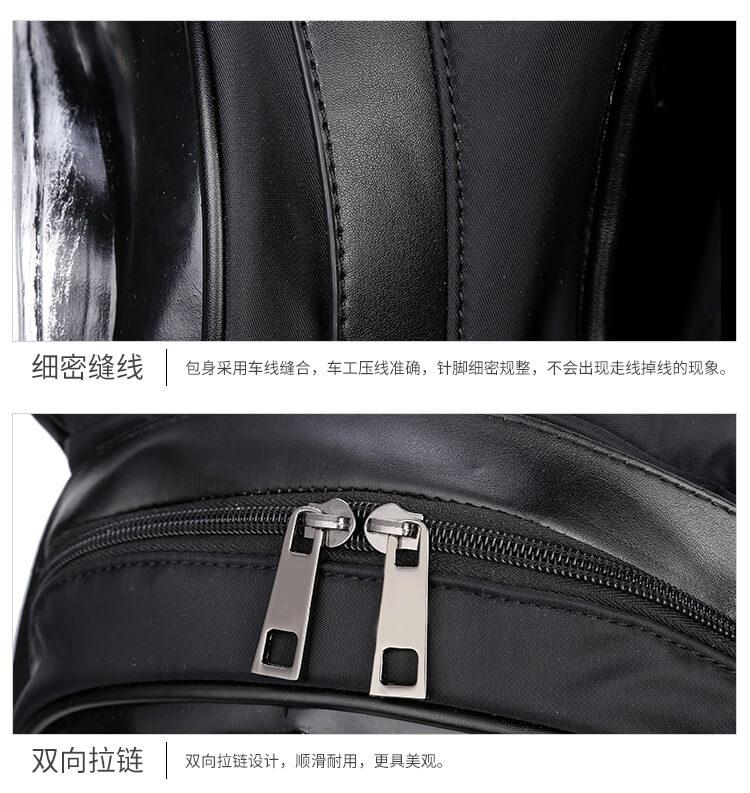3D skull knife leather backpack rivets skull backpack with Hood cap apparel bag 5